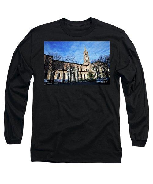 Long Sleeve T-Shirt featuring the photograph St Sernin Basilica by Cendrine Marrouat