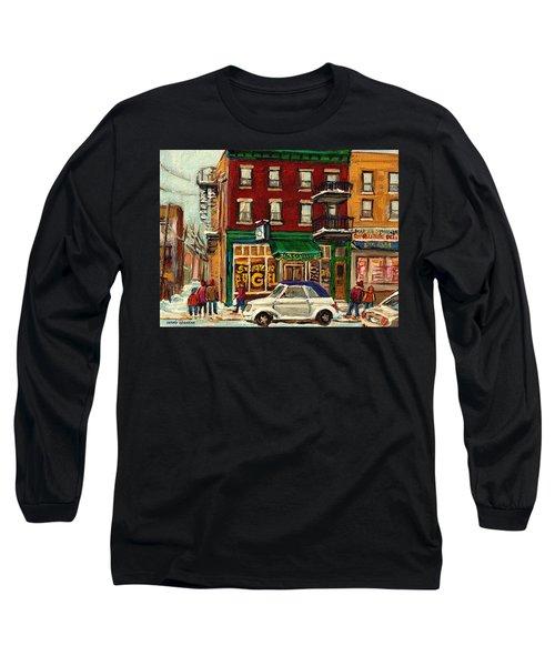 St Viateur Bagel And Mehadrins Deli Long Sleeve T-Shirt
