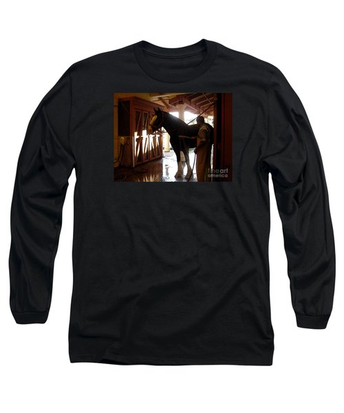 Stable Groom - 1 Long Sleeve T-Shirt by Linda Shafer