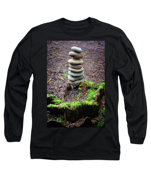 Long Sleeve T-Shirt featuring the photograph Stacked Stones And Fairy Tales II by Marco Oliveira