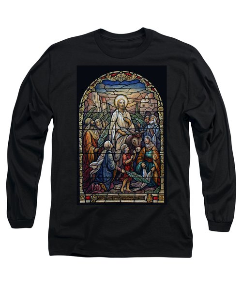 Stained Glass - Palm Sunday Long Sleeve T-Shirt