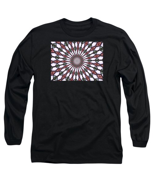 Long Sleeve T-Shirt featuring the photograph Stained Glass Kaleidoscope 2 by Rose Santuci-Sofranko