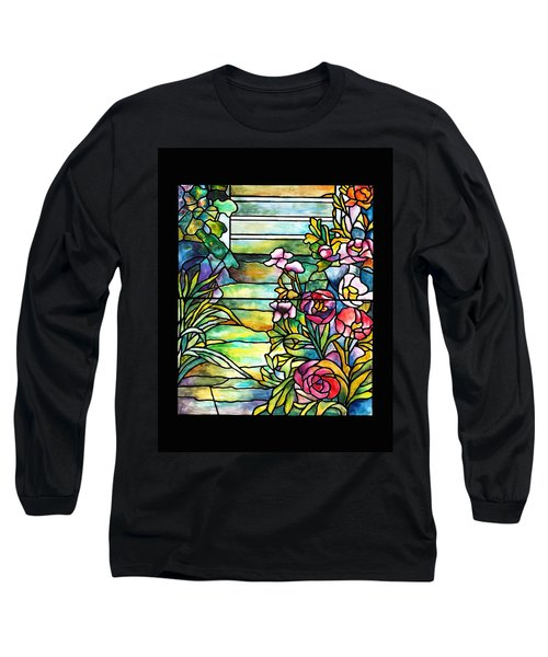 Stained Glass Tiffany Robert Mellon House Long Sleeve T-Shirt