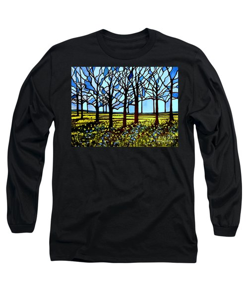 Stained Glass Trees Long Sleeve T-Shirt