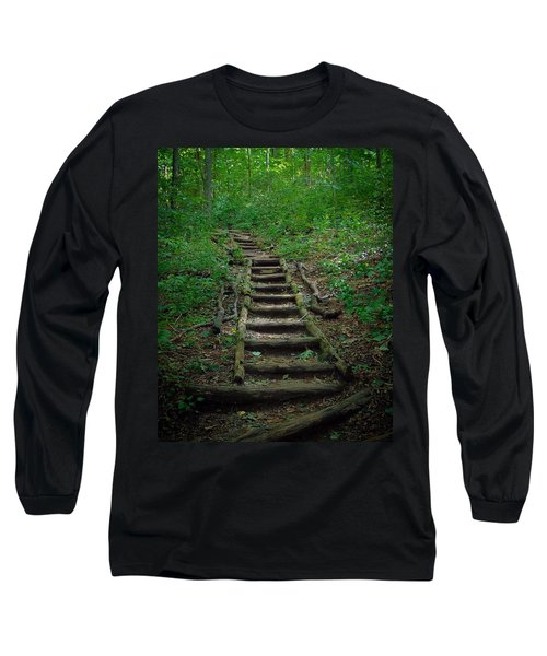 Stairway At Unicoi Gap On The At Long Sleeve T-Shirt