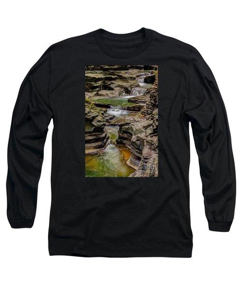 Stairway Waterfalls Long Sleeve T-Shirt