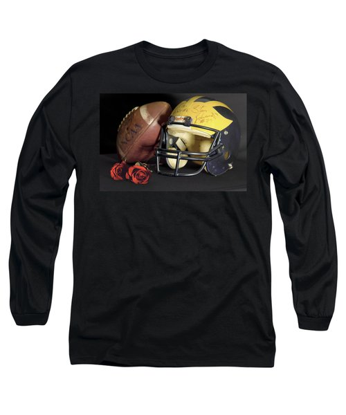 Stan Edwards's Autographed Helmet With Roses Long Sleeve T-Shirt