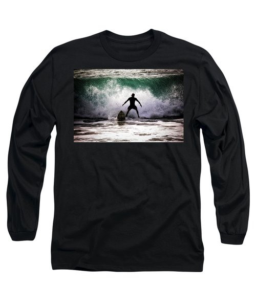 Long Sleeve T-Shirt featuring the photograph Standby Surfer by Jim Albritton