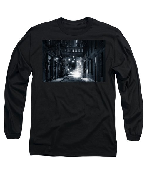 Staple Street Skybridge By Night Long Sleeve T-Shirt