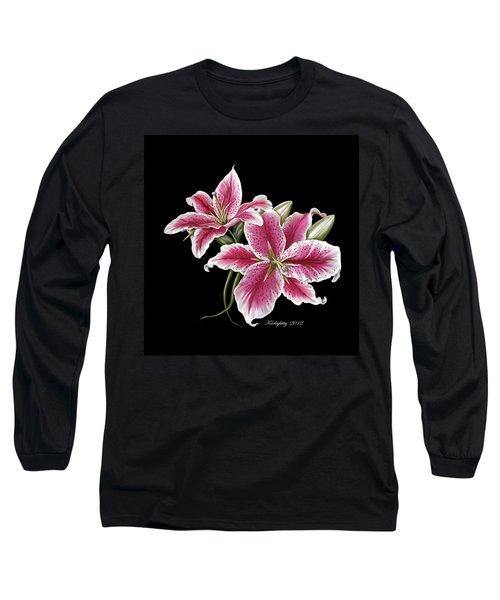 Star Gazer Lillies Long Sleeve T-Shirt