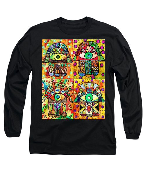 Star Of David Hamsa Long Sleeve T-Shirt