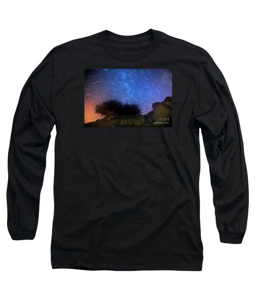 Star Trails Above Shell Beach Long Sleeve T-Shirt