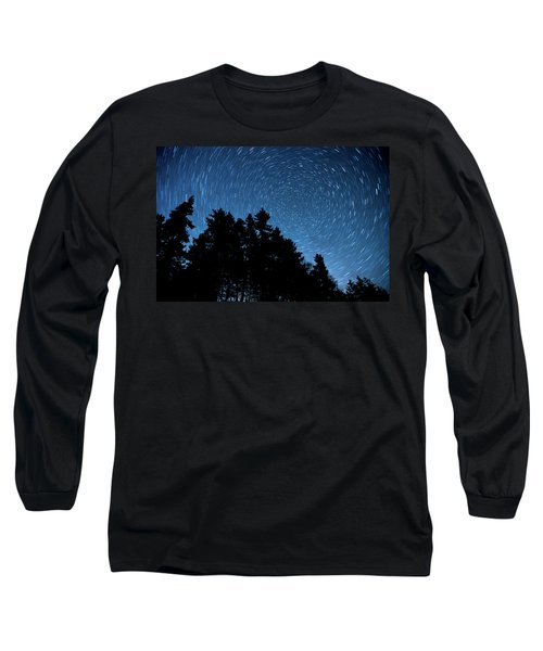 Star Trails In Acadia Long Sleeve T-Shirt