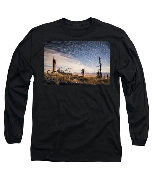 Star Trails Over Mt. Graham Long Sleeve T-Shirt