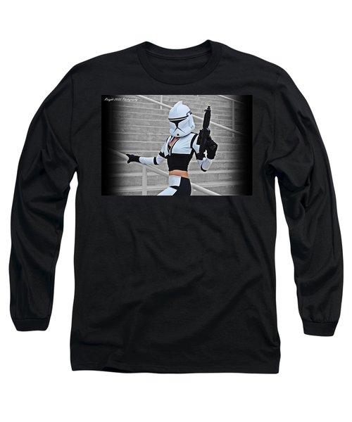 Star Wars By Knight 2000 Photography - Hello Guns Long Sleeve T-Shirt