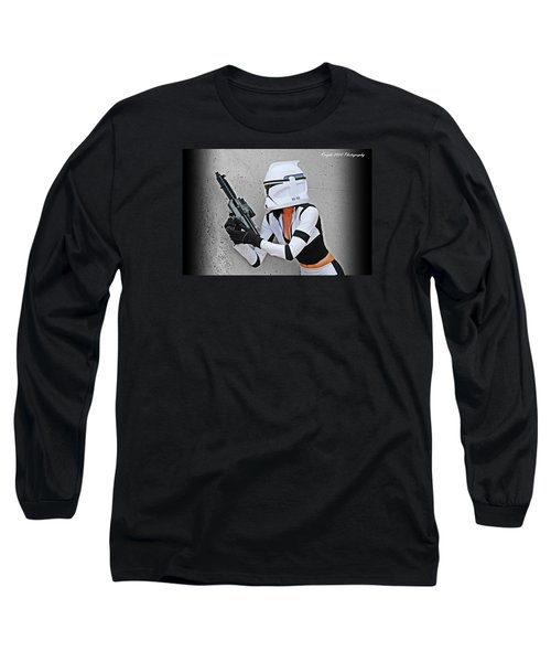 Star Wars By Knight 2000 Photography - Waiting Long Sleeve T-Shirt by Laura Michelle Corbin