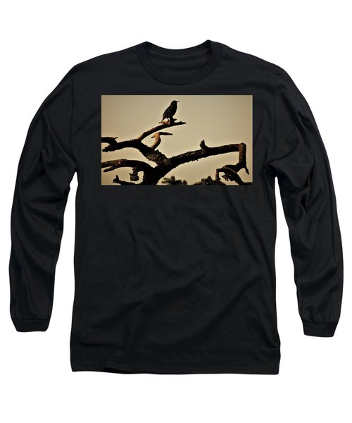 Long Sleeve T-Shirt featuring the photograph Starling by Karen Horn