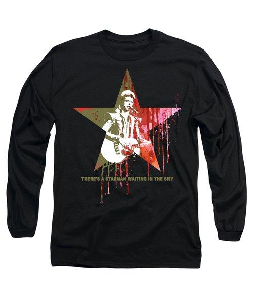 David Bowie - Starman #black Long Sleeve T-Shirt