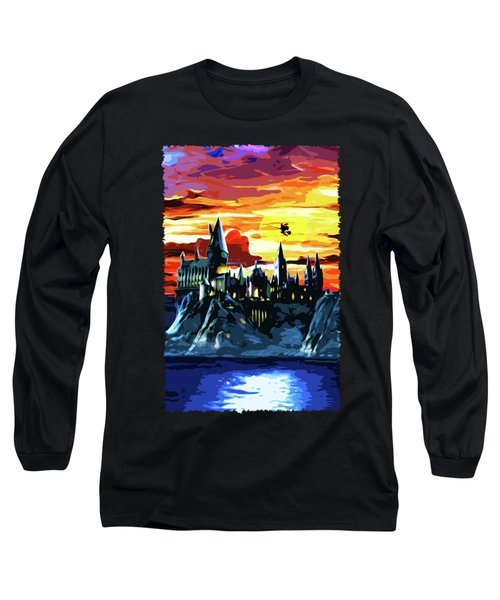 Starry Night Hogwarts Long Sleeve T-Shirt