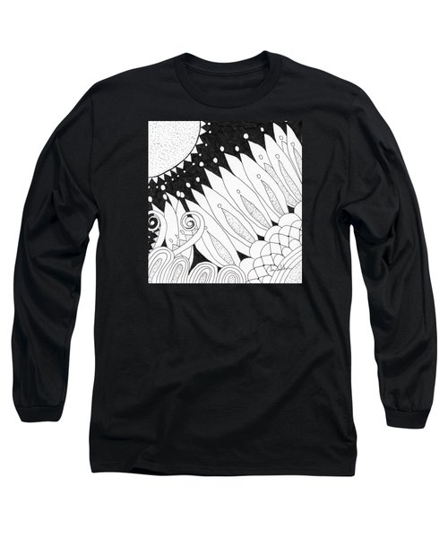 Starry Night Long Sleeve T-Shirt by Lou Belcher