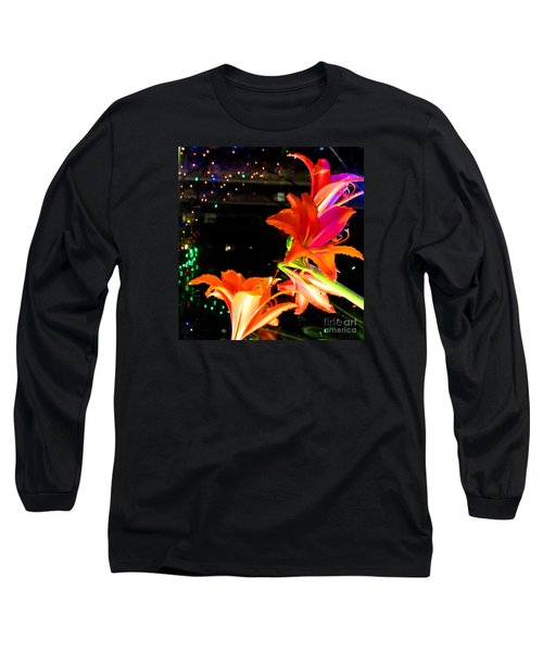 Stars And Flowers Long Sleeve T-Shirt by Anna Yurasovsky