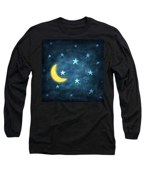 Stars And Moon Drawing With Chalk Long Sleeve T-Shirt