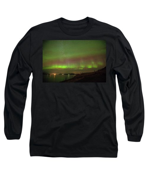 Stars And Northern Lights Long Sleeve T-Shirt