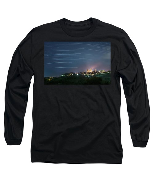 Startrails Over San Gimignano Long Sleeve T-Shirt