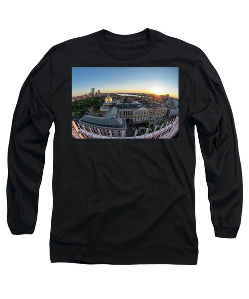 Long Sleeve T-Shirt featuring the photograph State House,fisheye View by Michael Hubley