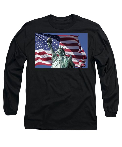 Long Sleeve T-Shirt featuring the photograph Statue Of Liberty New York  by Juergen Held