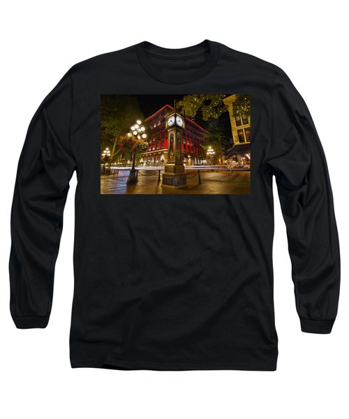 Steam Clock In Historic Gastown Vancouver Bc Long Sleeve T-Shirt