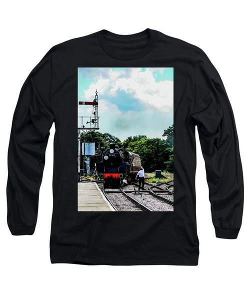Steam Train Approaching Long Sleeve T-Shirt