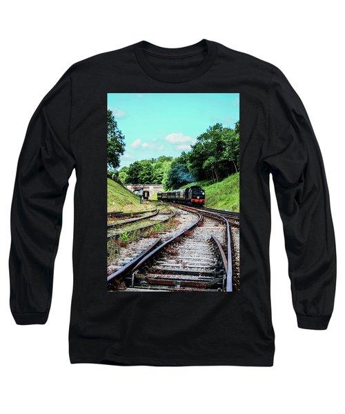 Steam Train Nr The Bridge Long Sleeve T-Shirt