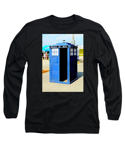 Steampunk Tardis Long Sleeve T-Shirt by Justin Moore