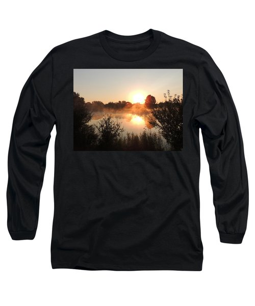 Steamy Morning Long Sleeve T-Shirt by Teresa Schomig