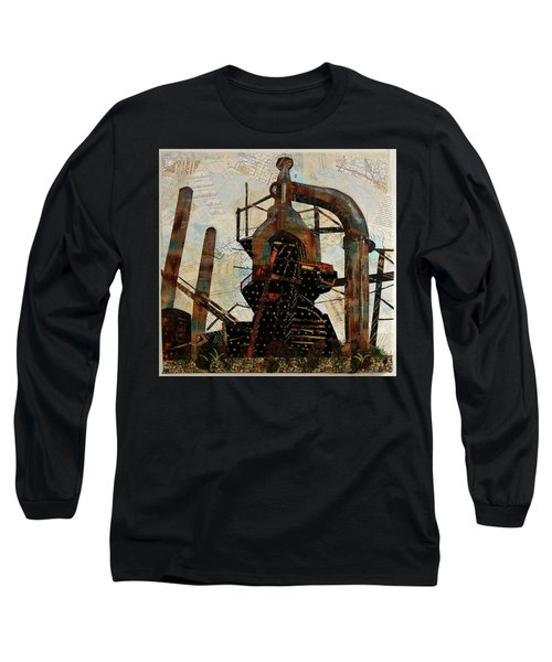 Steel Stacks Squared Long Sleeve T-Shirt