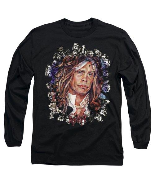 Steven Tyler Aerosmith Long Sleeve T-Shirt by Inna Volvak