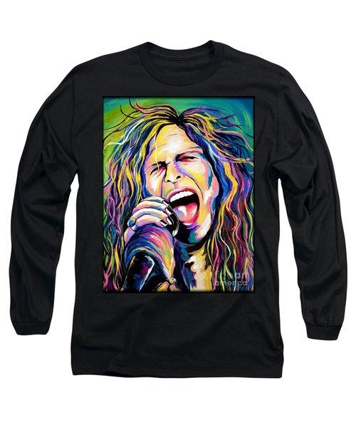 Steven Tyler Long Sleeve T-Shirt by Amy Belonio