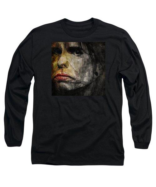Steven Tyler  Long Sleeve T-Shirt by Paul Lovering