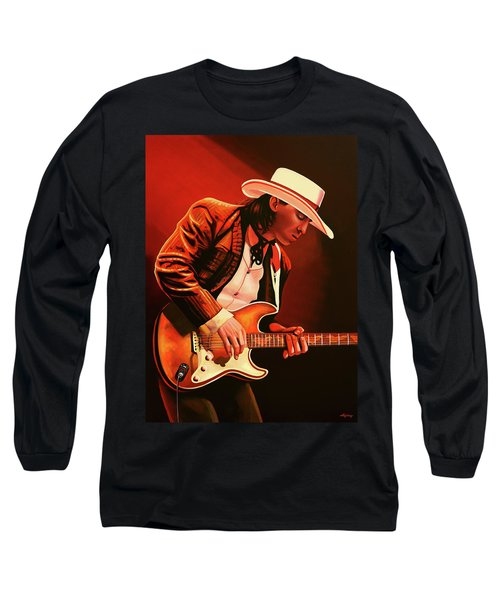 Stevie Ray Vaughan Painting Long Sleeve T-Shirt
