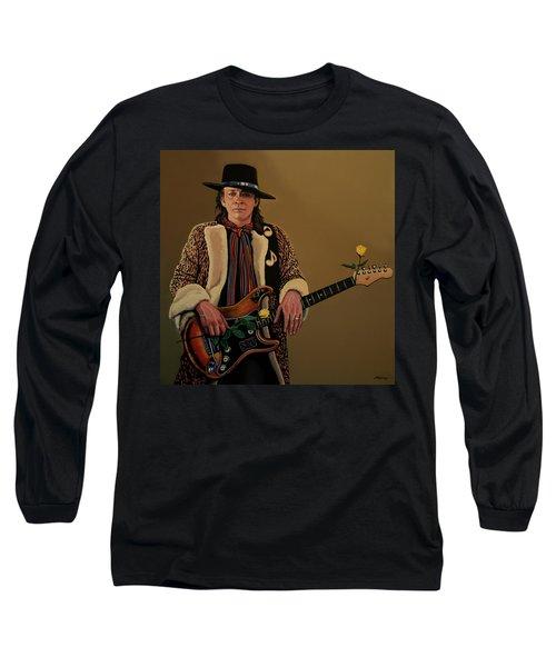 Stevie Ray Vaughan 2 Long Sleeve T-Shirt by Paul Meijering