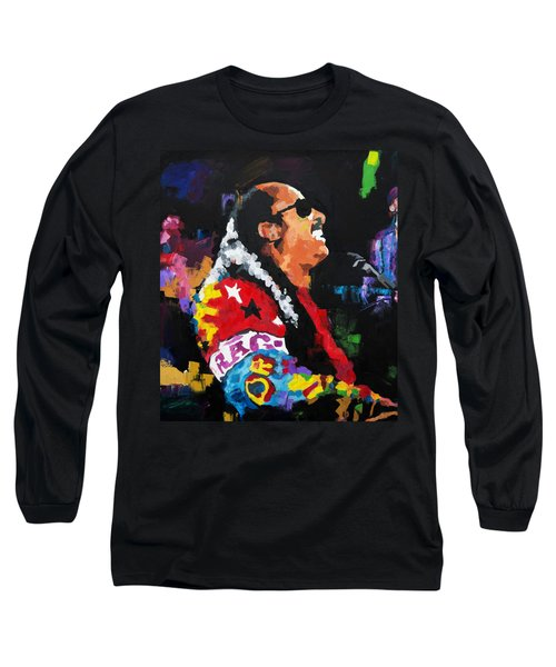 Stevie Wonder Live Long Sleeve T-Shirt by Richard Day