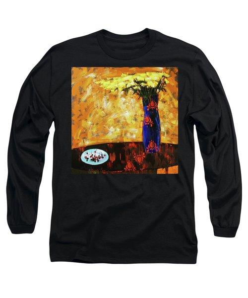 Still Life. Cherries For The Queen Long Sleeve T-Shirt