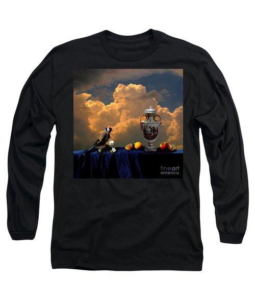 Long Sleeve T-Shirt featuring the digital art Still Life With Bird by Alexa Szlavics