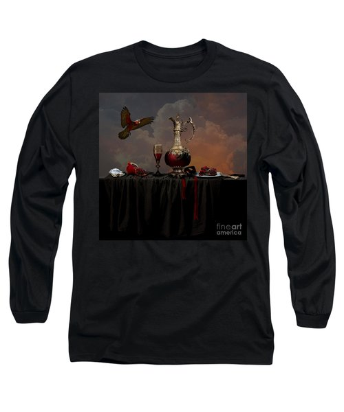 Long Sleeve T-Shirt featuring the photograph Still Life With Pomegranate by Alexa Szlavics