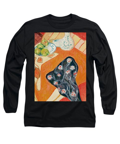 Still Live With Red Long Sleeve T-Shirt by Pierre Van Dijk