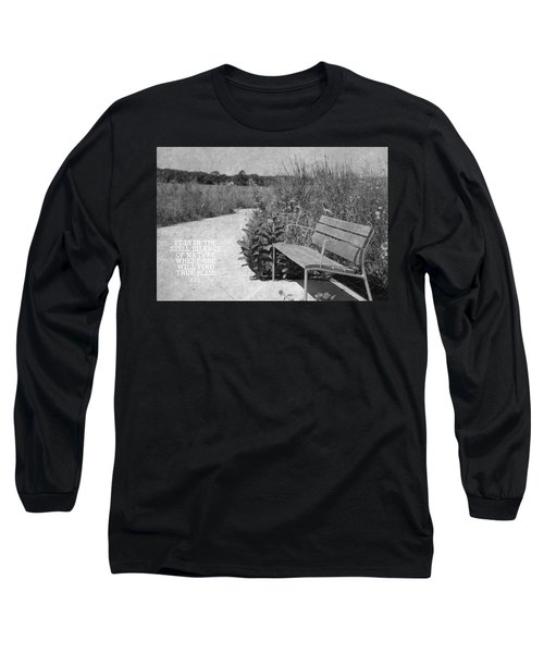Still Silence Of Nature Long Sleeve T-Shirt by Inspired Arts