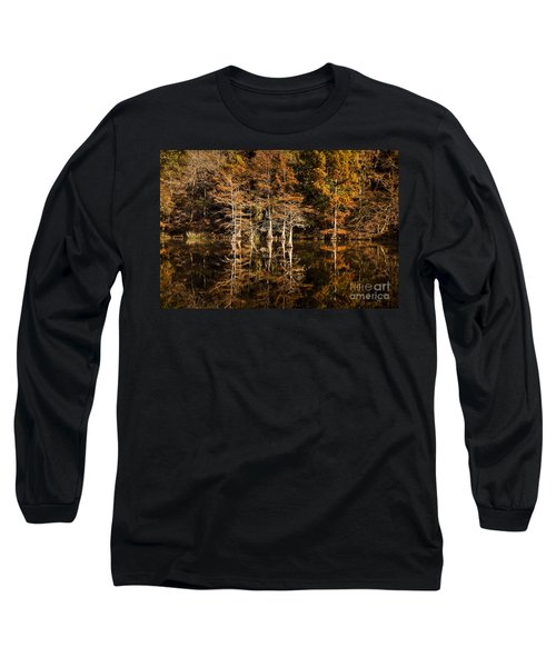 Long Sleeve T-Shirt featuring the photograph Still Waters On Beaver's Bend by Tamyra Ayles