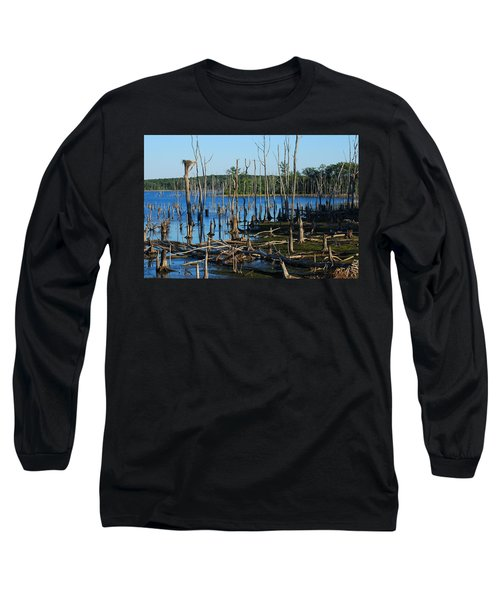 Still Wood - Manasquan Reservoir Long Sleeve T-Shirt