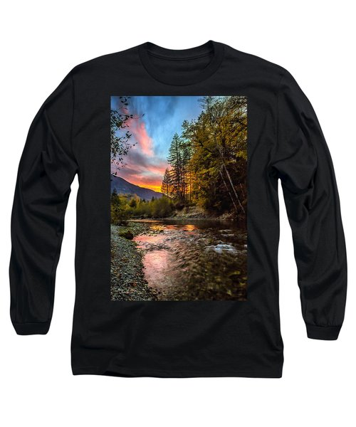 Stillaguamish Sunset Long Sleeve T-Shirt by Charlie Duncan